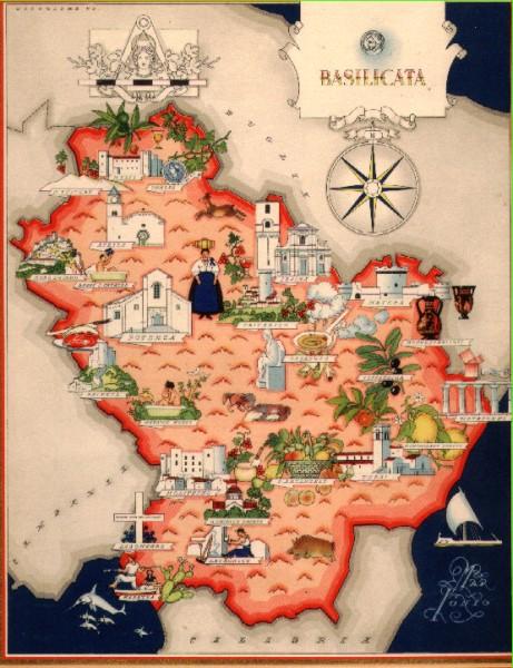 Cartina Basilicata.Documento Senza Titolo